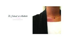 Le collier Apoi porté par Mathilde sur Instagram http://leportraitdemathilde.com