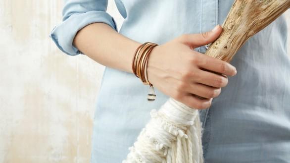 """Bracelet """"quatre liens"""" by apoi."""